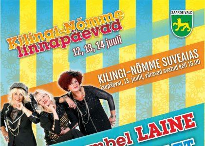 Linnapäevade piletid müügil vallamajas (Nõmme 22) ja Kilingi-Nõmme klubis!