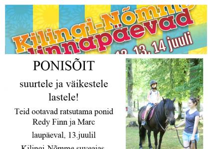 Kesküla talu talli ponid sõidutavad lapsi ka sel aastal!